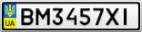 Номерной знак - BM3457XI