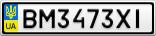 Номерной знак - BM3473XI