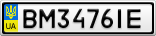 Номерной знак - BM3476IE