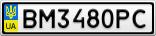 Номерной знак - BM3480PC