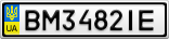 Номерной знак - BM3482IE