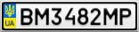 Номерной знак - BM3482MP