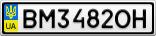 Номерной знак - BM3482OH