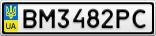 Номерной знак - BM3482PC