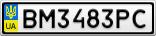 Номерной знак - BM3483PC