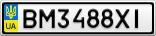 Номерной знак - BM3488XI