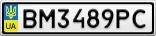 Номерной знак - BM3489PC