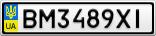 Номерной знак - BM3489XI