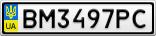 Номерной знак - BM3497PC