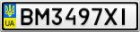 Номерной знак - BM3497XI