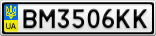 Номерной знак - BM3506KK
