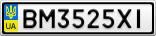 Номерной знак - BM3525XI