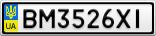 Номерной знак - BM3526XI