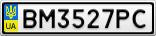 Номерной знак - BM3527PC