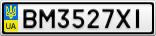 Номерной знак - BM3527XI