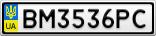 Номерной знак - BM3536PC