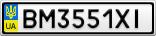 Номерной знак - BM3551XI