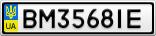 Номерной знак - BM3568IE