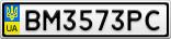 Номерной знак - BM3573PC