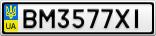 Номерной знак - BM3577XI