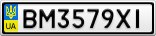 Номерной знак - BM3579XI