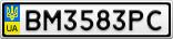 Номерной знак - BM3583PC