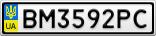 Номерной знак - BM3592PC