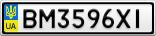 Номерной знак - BM3596XI