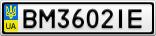 Номерной знак - BM3602IE