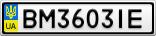 Номерной знак - BM3603IE