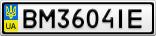 Номерной знак - BM3604IE