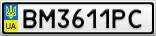Номерной знак - BM3611PC