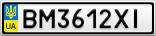 Номерной знак - BM3612XI