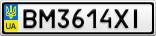 Номерной знак - BM3614XI