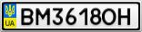 Номерной знак - BM3618OH