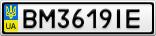 Номерной знак - BM3619IE