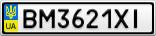 Номерной знак - BM3621XI