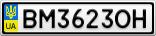 Номерной знак - BM3623OH