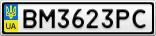 Номерной знак - BM3623PC