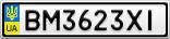 Номерной знак - BM3623XI