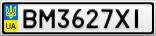 Номерной знак - BM3627XI