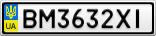 Номерной знак - BM3632XI