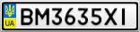 Номерной знак - BM3635XI