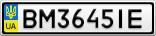 Номерной знак - BM3645IE