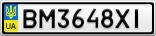 Номерной знак - BM3648XI