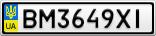 Номерной знак - BM3649XI