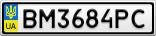 Номерной знак - BM3684PC