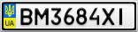 Номерной знак - BM3684XI