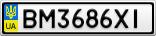 Номерной знак - BM3686XI
