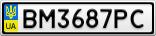 Номерной знак - BM3687PC